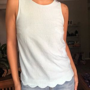 Linen scalloped shirt